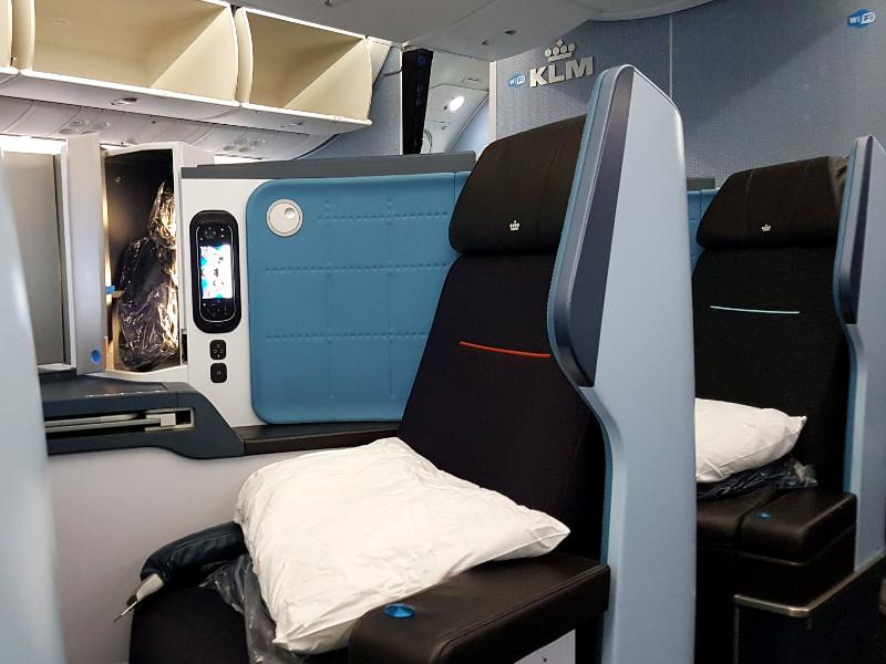 KLM Dreamliner B787 Business Class Sitz Erfahrung