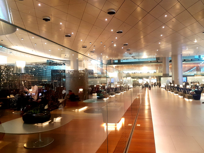 Qatar Airways Business Class Lounge Doha Al Mourjan Erfahrung