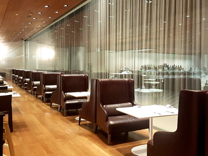 Qatar Airways Business Class Lounge Doha Al Mourjan Restaurant
