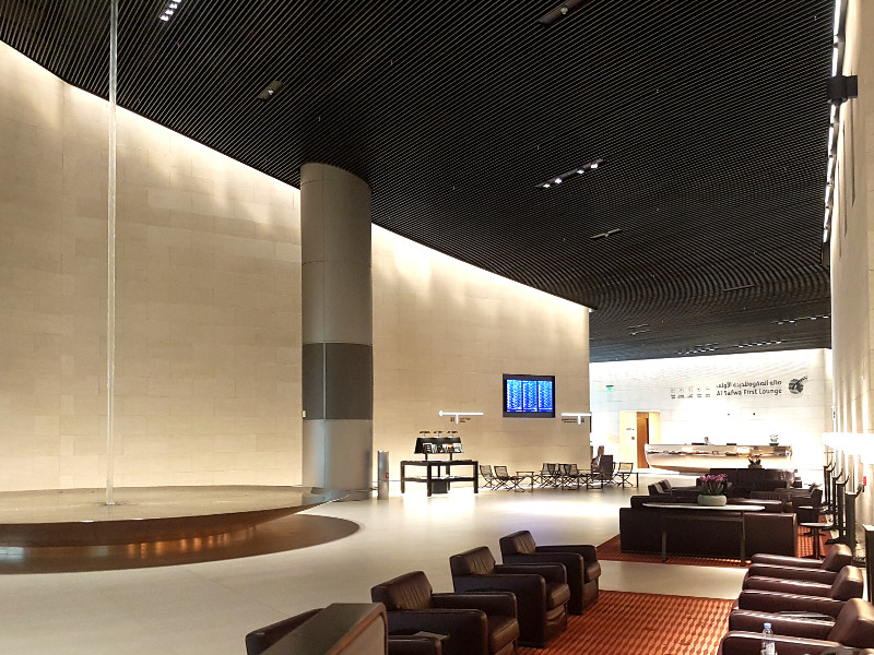 Qatar Airways First Class Lounge Doha Erfahrung