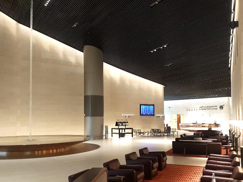 Qatar Airways First Class Lounge Doha Erfahrung