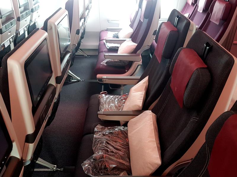 Qatar Airways Economy Klasse Sitzplan im A350-1000