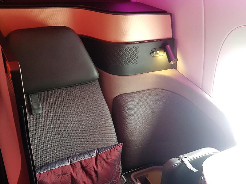 Qatar Airways Qsuite Business Class Einzelsitz am Gang