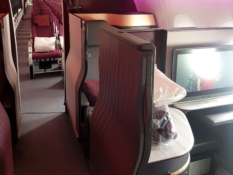 Qatar Airways Qsuite Business Class Sitze Airbus A350-1000 mit 1-2-1 Bestuhlung