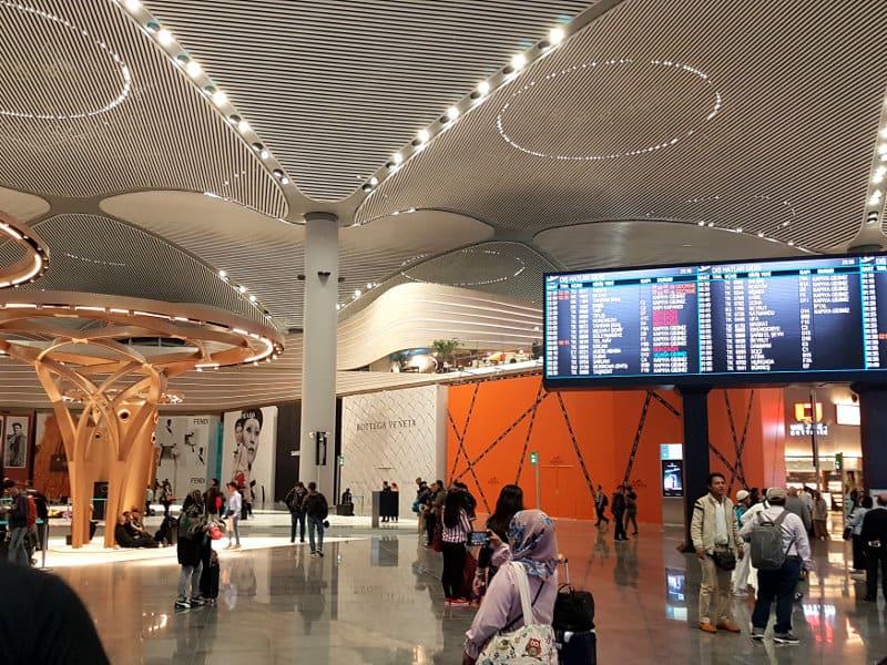 Neuer Flughafen Istanbul: Zentrale Abflughalle