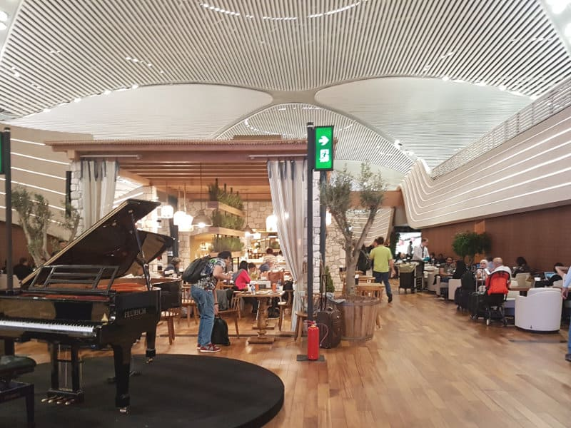 Neue Turkish Airlines Business Class Lounge Istanbul - Eingangsbereich