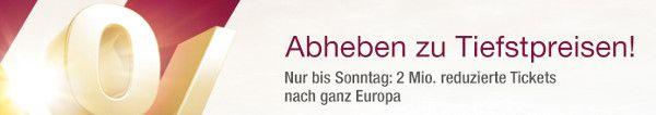 Flugangebote – Nur dieses Wochenende – Europaziele ab 33 EUR