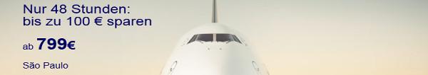 Lufthansa 2 Tage Discount Aktion nur am 25. und 26. Juni: Lufthansa Flüge buchen und bis zu 100 EUR sparen