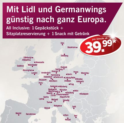 Germanwings Tickets bei Lidl