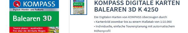 50% Rabatt auf KOMPASS Wanderführer und Wanderkarten von Deutschland, über die Alpen und Österreich