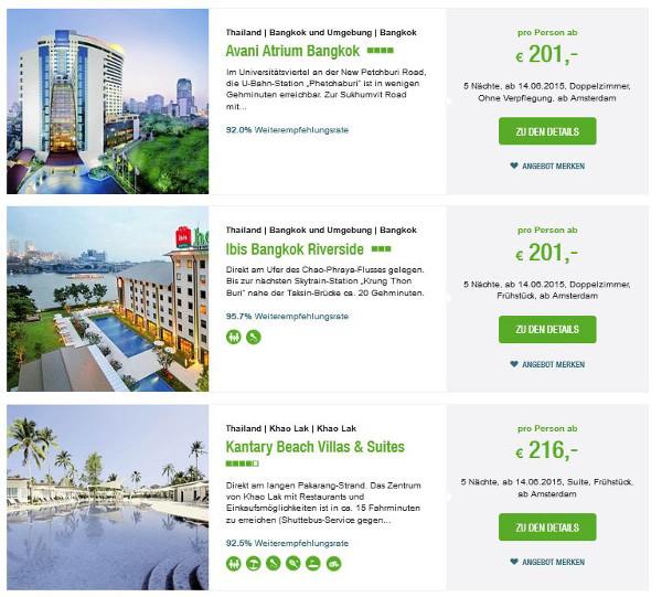 Thailand Pauschalreisen für 200 EUR