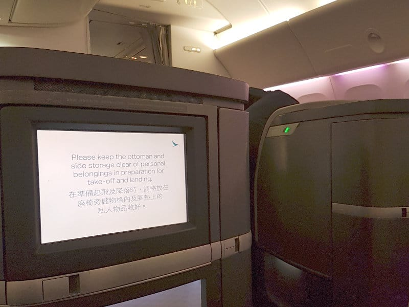 First Class von Cathay Pacific