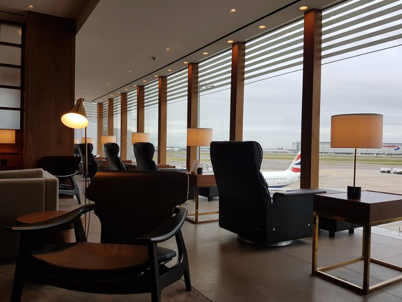 First Class Lounge am Flughafen London Heathrow