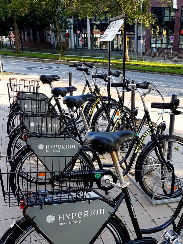 Fahrradverleih des Hyperion Hotel Hamburg