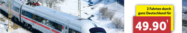 Lidl Bahnticket für 49,90 Euro im Dezember 2017