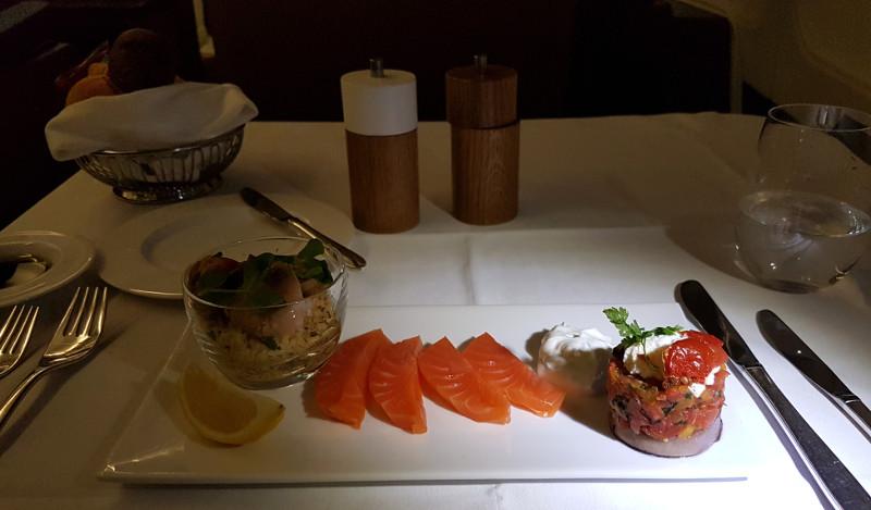 SWISS Airlines First Class Menüs und kulinarische Highlights