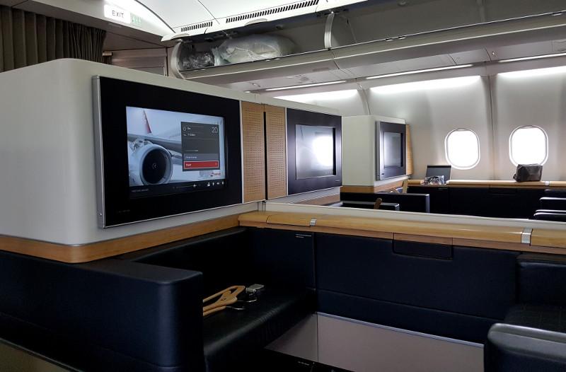 SWISS Airlines First Class Komfort an Bord der Flugzeuge
