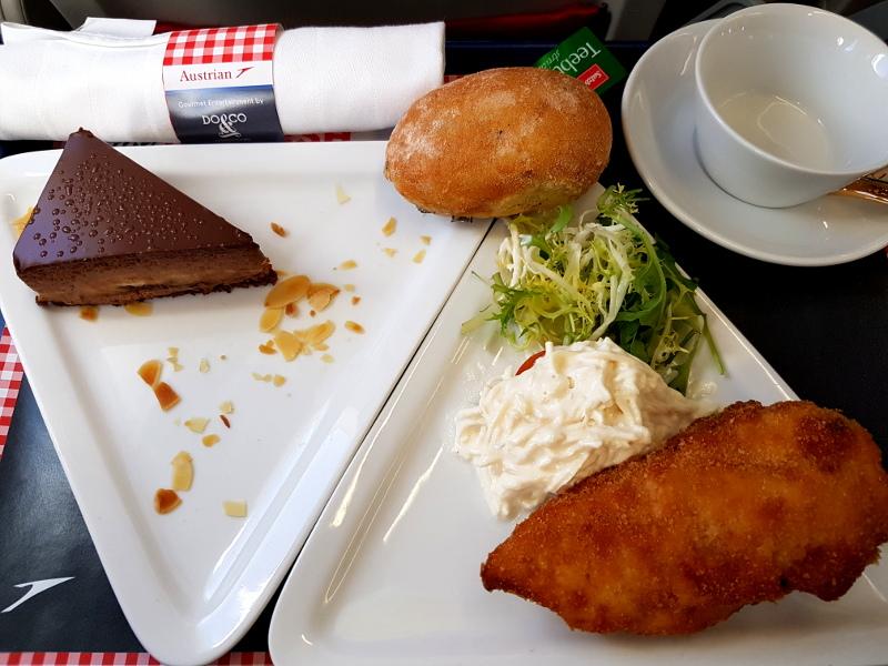 Super Verpflegung auf Flügen mit Austrian Airlines von Do&Co