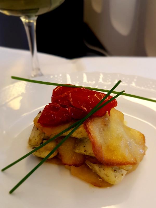 Alitalia Business Class Dinner