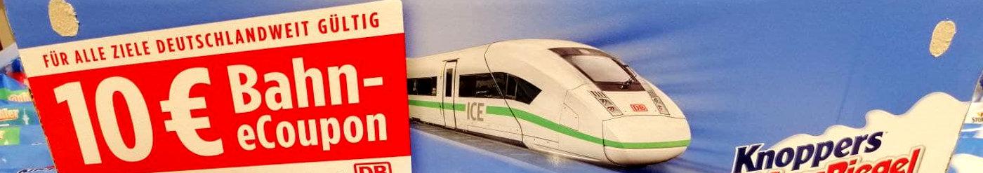 Toffifee Bahn Aktion: 10 Euro Gutschein für Bahntickets in jeder Toffifee, Knoppers Aktionspackung