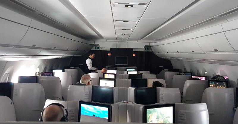 Qatar Airways Business Class Sitze im Airbus A350 A380 und Dreamliner Erfahrung
