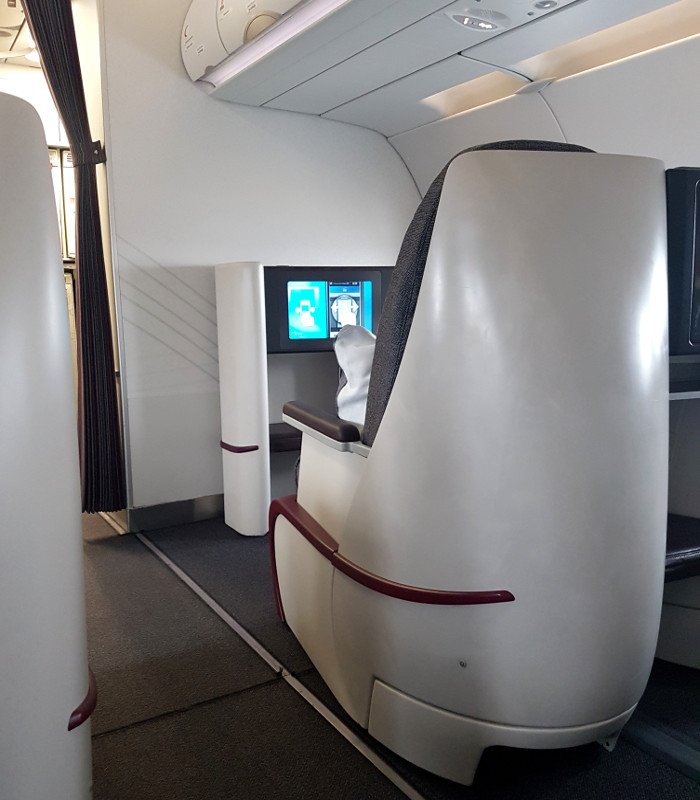 Qatar Airways Business Class Sitze im Airbus A320