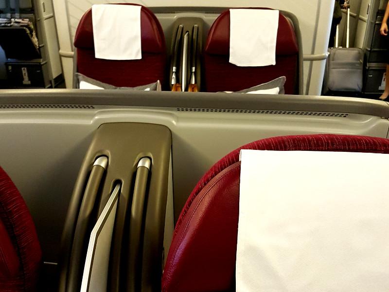 Qatar Airways Business Class Sitze Boeing B777 mit 2-2-2 Bestuhlung