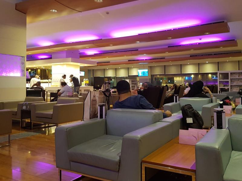 Saudi Arabian Airlines Business Class Lounge am Flughafen Jeddah Erfahrung