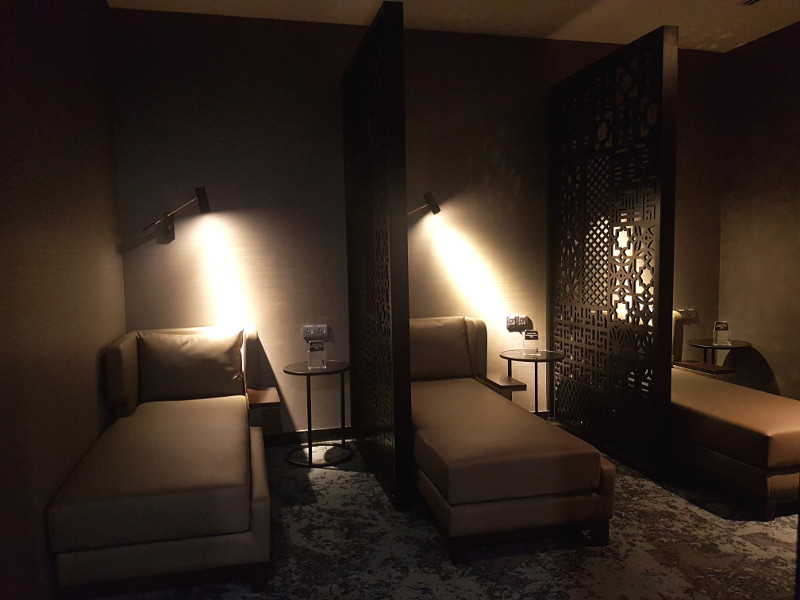 Malaysia Airlines First Class Golden Lounge Ruheraum Nap Area Erfahrung
