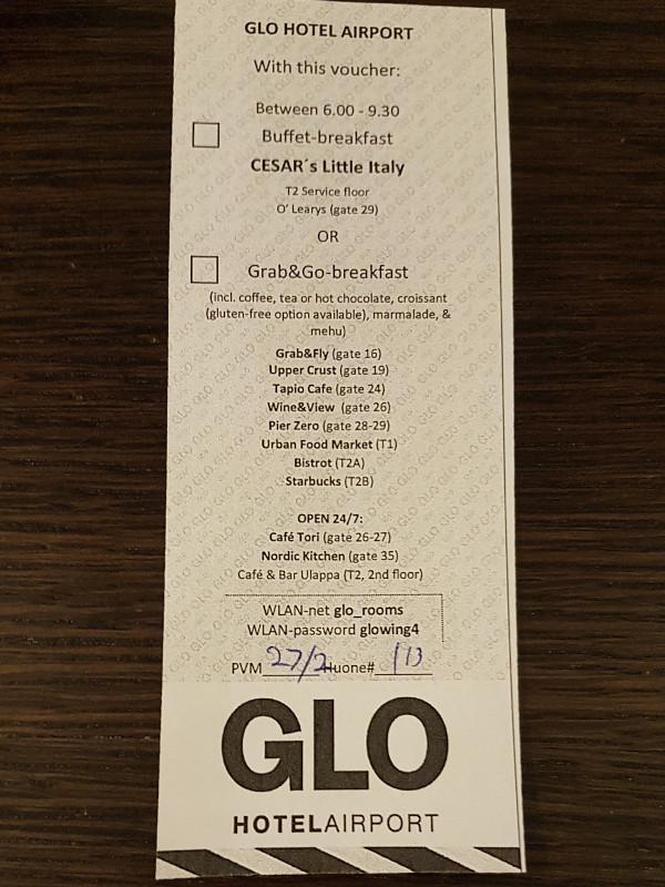 GLO Airport Hotel Helsinki - Flexibles Frühstück