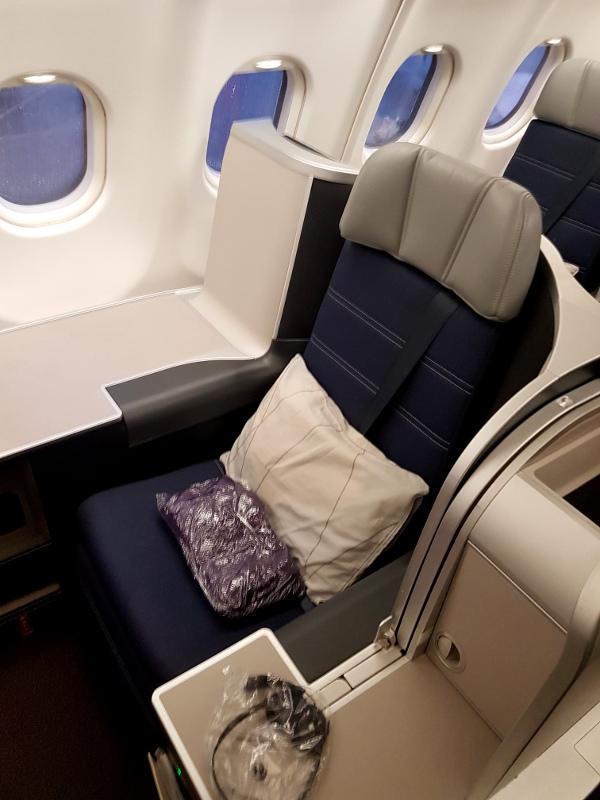 Malaysia Airlines Business Class Airbus A330 Erfahrung Einzelreisender Thron Sitz