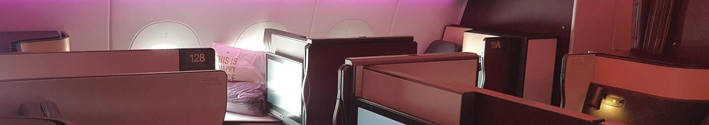 Qatar Airways Qsuite Business Class: Fliegen Sie mit der neuen Qsuite – alleine, im Doppelbett oder Partyzone zu Viert