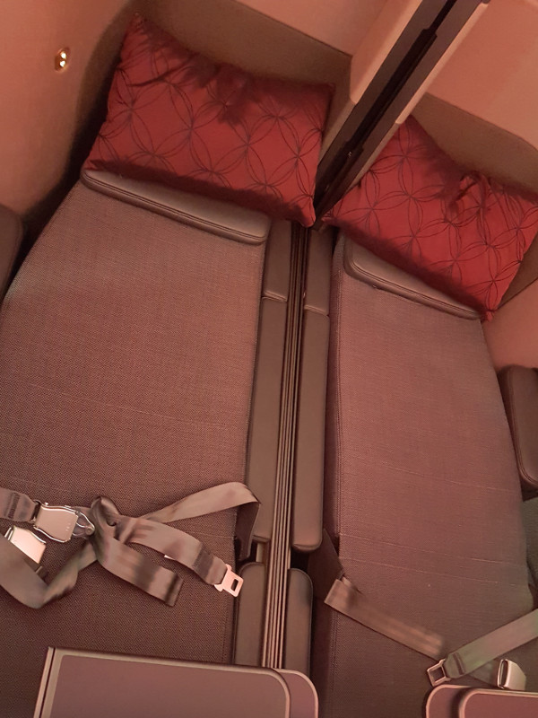 Qatar Airways Qsuite Business Class Doppelbett für Paare