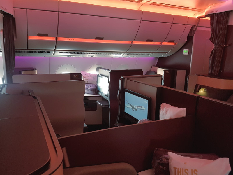 Qatar Airways Qsuite Business Class Vierergruppe Quad Konfiguration