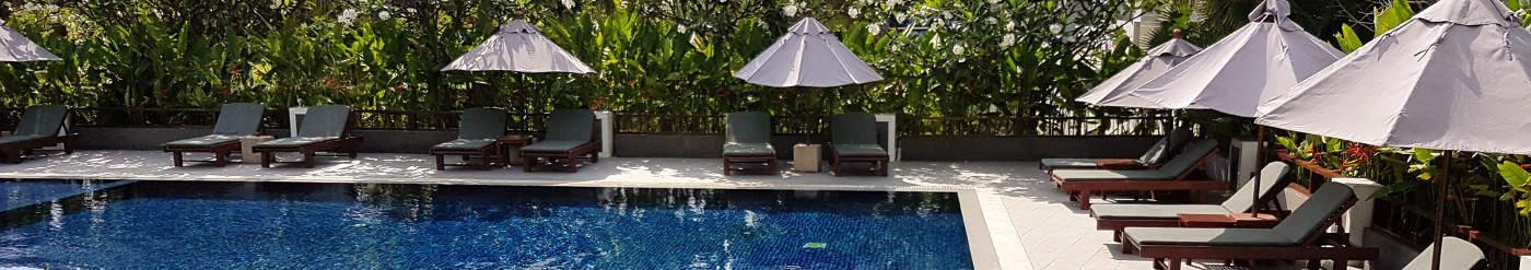 Urlaub auf Raten - Urlaubskredit - Pool in Bangkok, Thailand