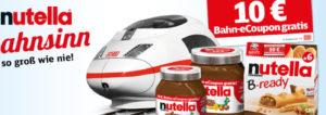 Nutella Bahn Aktion: 10 Euro Gutschein für Bahntickets in jedem Nutella Aktionsglas + Gewinnspiel