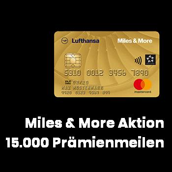 Lufthansa Miles & More Kreditkarte Willkommenbonus