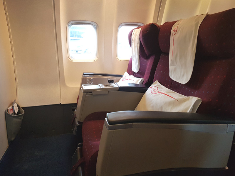 Kenya Airways Business Class Sitz B737