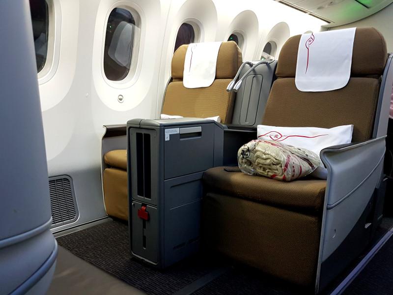 Kenya Airways Business Class Sitz Premier World