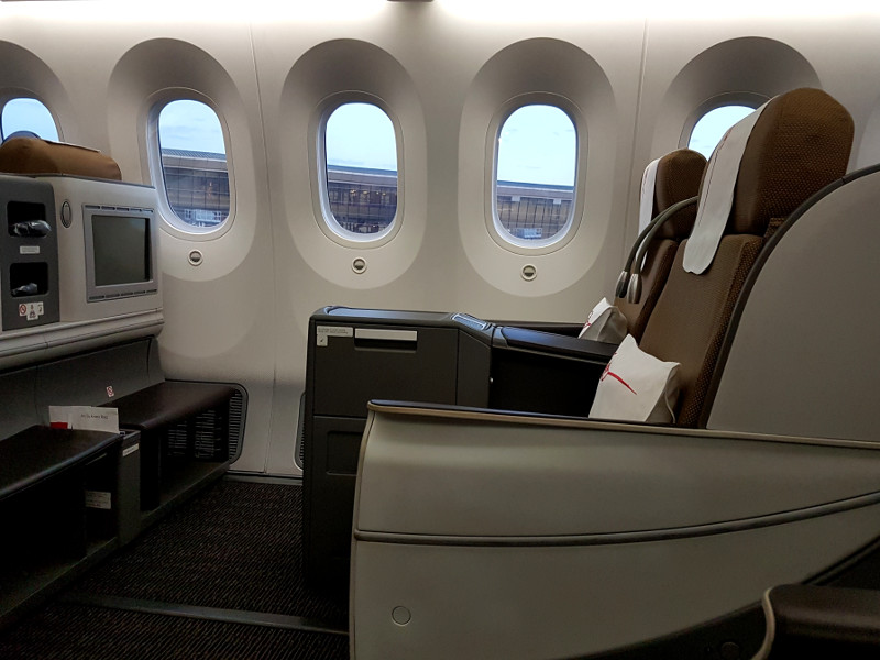 Kenya Airways Business Class Sitz Premier World