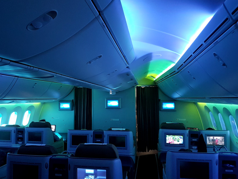 Kenya Airways Business Class Kabine Dreamliner
