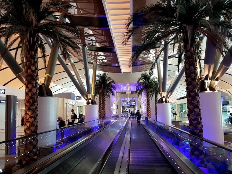 Umsteigen am Flughafen Muscat, Oman