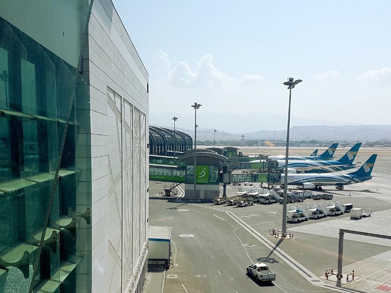 Transfer am Flughafen Muscat, Oman