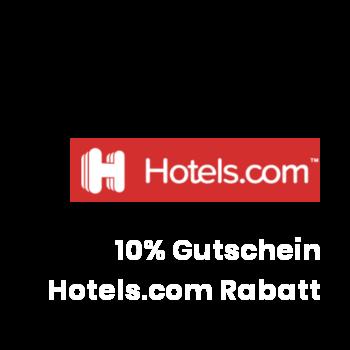 10% Rabatt Gutschein bei hotels.com