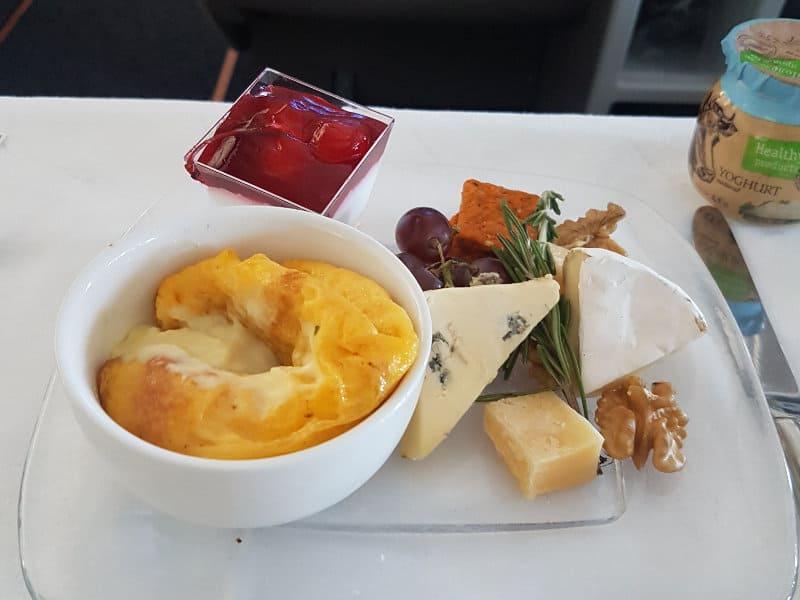 Aeroflot Business Class Speisen und Getränke