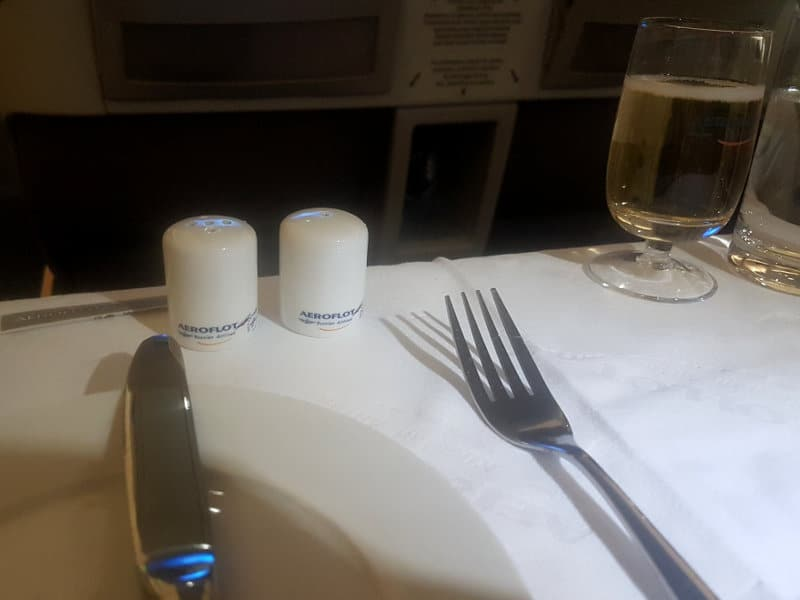 Toller Restaurantservice in der Aeroflot Business Class