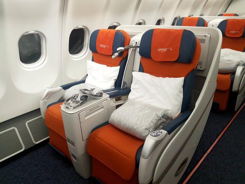 Erfahrungen in der Aeroflot Business Class im A330