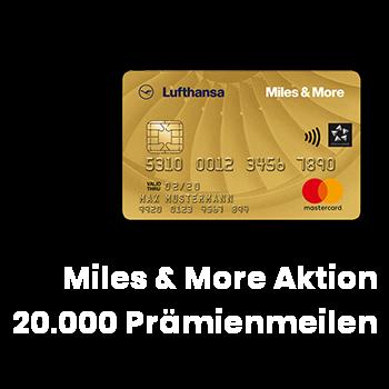 Lufthansa Miles & More Kreditkarte 20000 Willkommenbonus