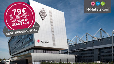 Hotel Deal Borussia Mönchengladbach bei H-Hotels
