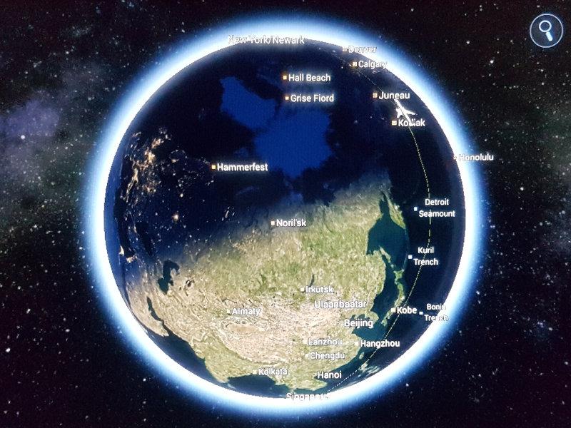 Singapore Airlines - der längste Flug der Welt - Flugroute von Singapur nach New York